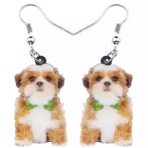 Shih Tzu 2D Dog Earrings